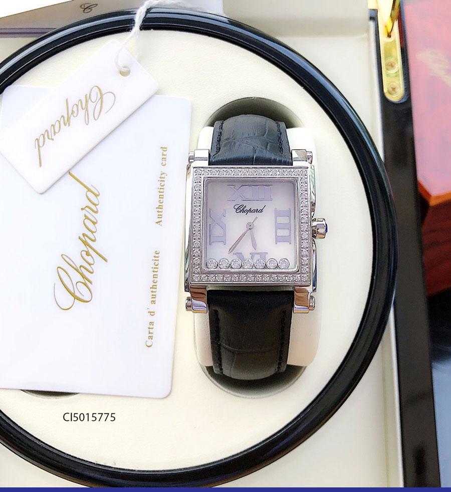 đồng hồ Chopard nữ mặt Vuông dây da super fake giá rẻ tại tphcm hà nội