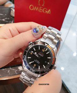 Đồng hồ cơ omega nam máy nhật dây thép không gỉ
