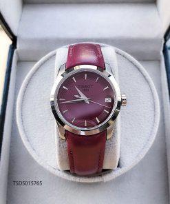 đồng hồ tissot 1853 nữ dây da màu đỏ