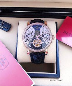 đồng hồ Patek Philippe genneve nam máy lộ cơ đẹp dây da giá rẻ tại tphcm