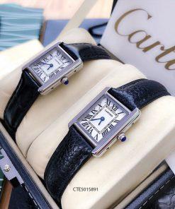 Đồng Hồ Cartier nữ dây da đen cao cấp