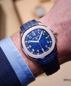 Đồng hồ nam Patek Philippe Aquanaut máy cơ dây ca cao su mặt xanh cao cấp giá rẻ