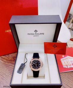 Đồng hồ nam Patek Philippe Aquanaut máy cơ viền vàng giá rẻ fullbox