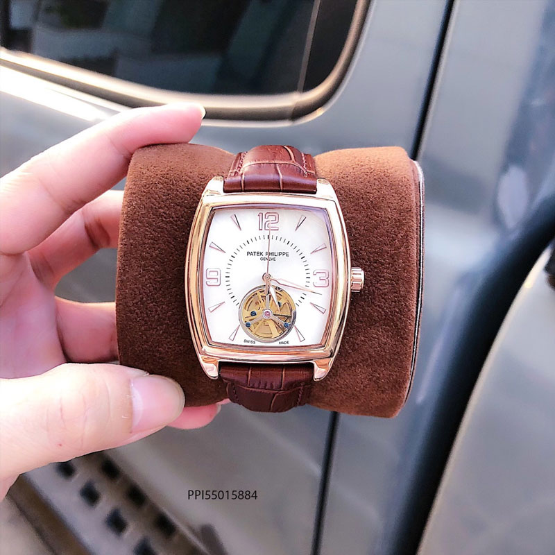 đồng hồ nam Patek Philippe máy thụy sĩ mặt vuông cao cấp giá rẻ