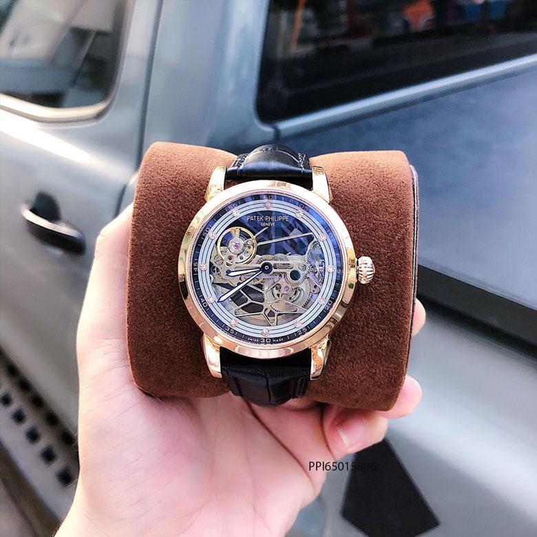 độ dày đồng hồ nam Patek Philippe máy cơ thụy sĩ lộ cơ trong suốt cao cấp giá rẻ