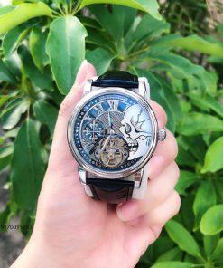 đồng hồ đeo tay nam Patek Philippe máy cơ Thụy Sĩ dây da