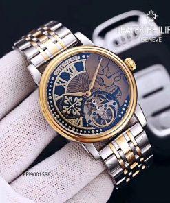 đồng hồ nam Patek Philippe máy cơ lộ viền vàng cao cấp giá rẻ