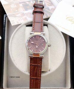 Đồng hồ Chopard nữ Imperiale máy thuỵ sỉ dây da nâu giá rẻ