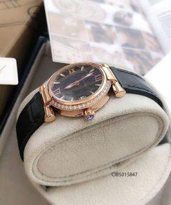 độ dày đồng hồ nữ Chopard Imperiale máy thuỵ sỉ dây da đen