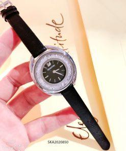 Đồng hồ nữ Swarovski dây da đính đá thuỷ tinh