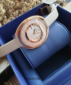 Đồng hồ nữ Swarovski dây da đính đá giá rẻ