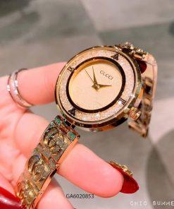 đồng hồ gucci nữ mặt đá xoay cao cấp giá rẻ