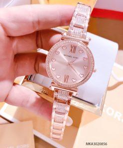 Đồng hồ nữ Michael Kors đính trái tim dây kim loại cao cấp giá rẻ