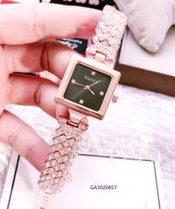 Đồng hồ nữ Gucci mặt vuông dây kim loại cao cấp giá rẻ