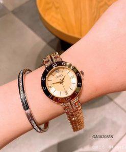 Đồng hồ nữ Gucci viền chữ đính đá cao cấp giá rẻ