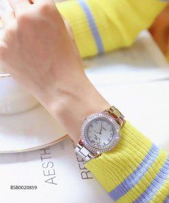 Đồng hồ đeo tay nữ Bee Sister mặt đá xoay cao cấp giá rẻ