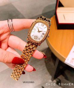 đồng hồ versace nữ dây kim loại mạ vàng cao cấp giá rẻ