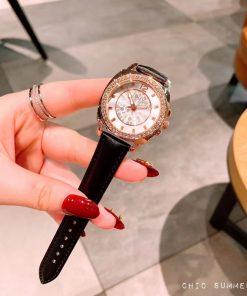 đồng hồ nữ coach dây da mặt trắng cao cấp giá rẻ
