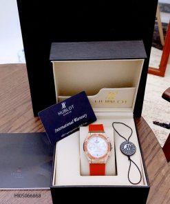 Đồng hồ Hublot nữ Big Bang dây cao su đỏ cao cấp giá rẻ