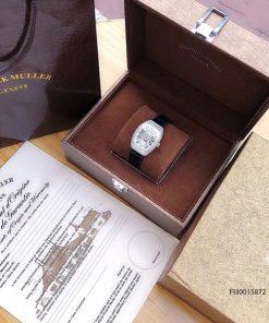 Đồng hồ nữ Franck muller máy Thụy Sĩ dòng Vanguard Yaching V32 viền bạc fullbox