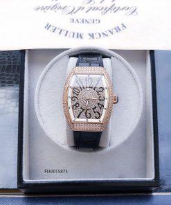 Đồng hồ nữ Franck muller dòng Vanguard Yaching V32 viền vàng fullbox