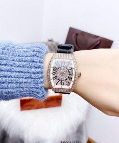 Đồng hồ nữ Franck muller dòng Vanguard Yaching V32 viền vàng cao cấp