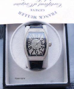 Đồng hồ nữ Franck muller V32 full đá màu bạc cao cấp giá rẻ