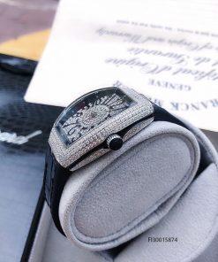 Đồng hồ nữ Franck muller V32 full đá màu bạc cao cấp