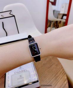 Đồng hồ nữ Chanel Boy Friend Beige mặt đen dây da cao cấp giá rẻ