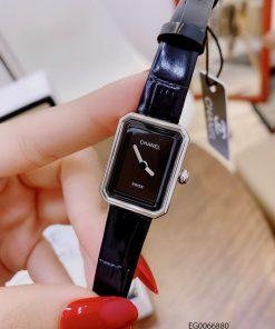 Đồng hồ nữ Chanel Boy Friend Beige dây da cao cấp giá rẻ