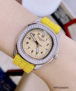 Đồng hồ Patek Philippe Nautilus Lady nữ dây cao su vàng cao cấp giá rẻ