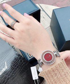 Đồng hồ nữ Chopard dòng Happy Diamond Real sapphire đỏ replica 1:1
