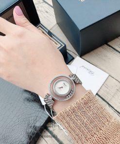 Đồng hồ đeo tay nữ Chopard Happy Diamond Real sapphire trắng replica 1:1