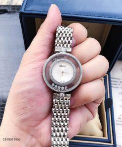 Đồng hồ nữ Chopard Happy Diamond Real sapphire trắng replica 1:1