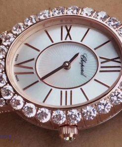 Đồng hồ nữ Chopard L'Heure Du Diamant Replica 1:1 mặt bầu dục