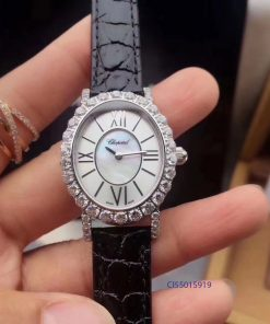 Đồng hồ nữ Chopard L'Heure Du Diamant Replica 1:1 màu trắng