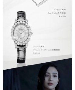 Đồng hồ nữ Chopard L'Heure Du Diamant Replica 1:1 màu trắng giá rẻ