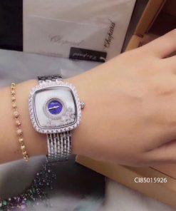 Đồng hồ nữ Chopard dòng Happy Diamond mặt vuông replica 1:1
