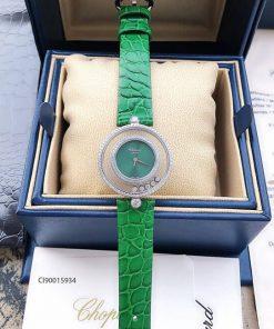 Đồng hồ nữ Chopard Happy Diamond dây da xanh replica 1:1