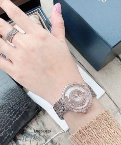 Đồng hồ đeo tay nữ Chopard dòng Happy Diamond demi replica 1:1