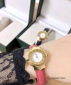 Đồng hồ đeo tay nữ Gucci Vintage dạng lắc mặt xoay cao cấp hồng giá rẻ fullbox