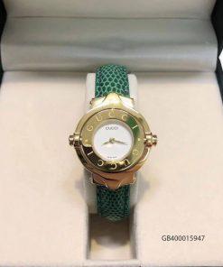 Đồng hồ nữ Gucci Vintage dạng lắc dây da xanh cao cấp fullbox