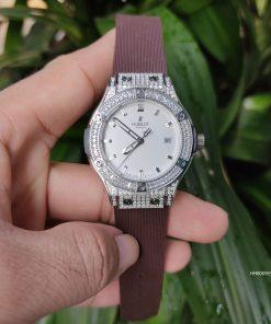 Đồng hồ Hublot nữ Geneve Big Bang nâu cao cấp