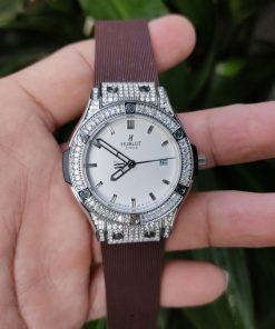 Đồng hồ Hublot nữ Geneve Big Bang nâu cao cấp giá rẻ