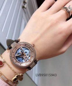 Đồng Hồ Louis Vuitton Nữ mặt xoay tự động máy Thụy Sĩ cao cấp giá rẻ fullbox