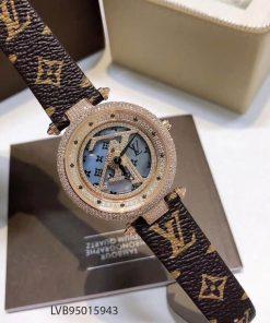 Đồng Hồ đeo tay nữ Louis Vuitton Nữ mặt xoay tự động máy Thụy Sĩ cao cấp giá rẻ fullbox