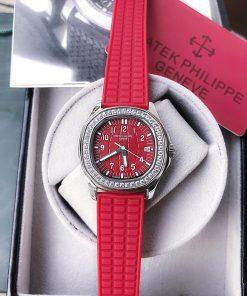 Đồng hồ Patek Nautilus Philippe nữ dây cao su đỏ cao cấp