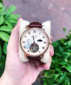 Đồng hồ nam Patek Philippe máy Thụy Sĩ dây da cao cấp fullbox