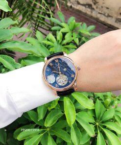 Đồng hồ nam Patek Philippe máy Thụy Sĩ dây da cao cấp giá rẻ