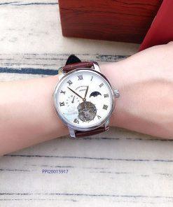 Đồng hồ nam Patek Philippe máy Thụy Sĩ dây da nâu cao cấp